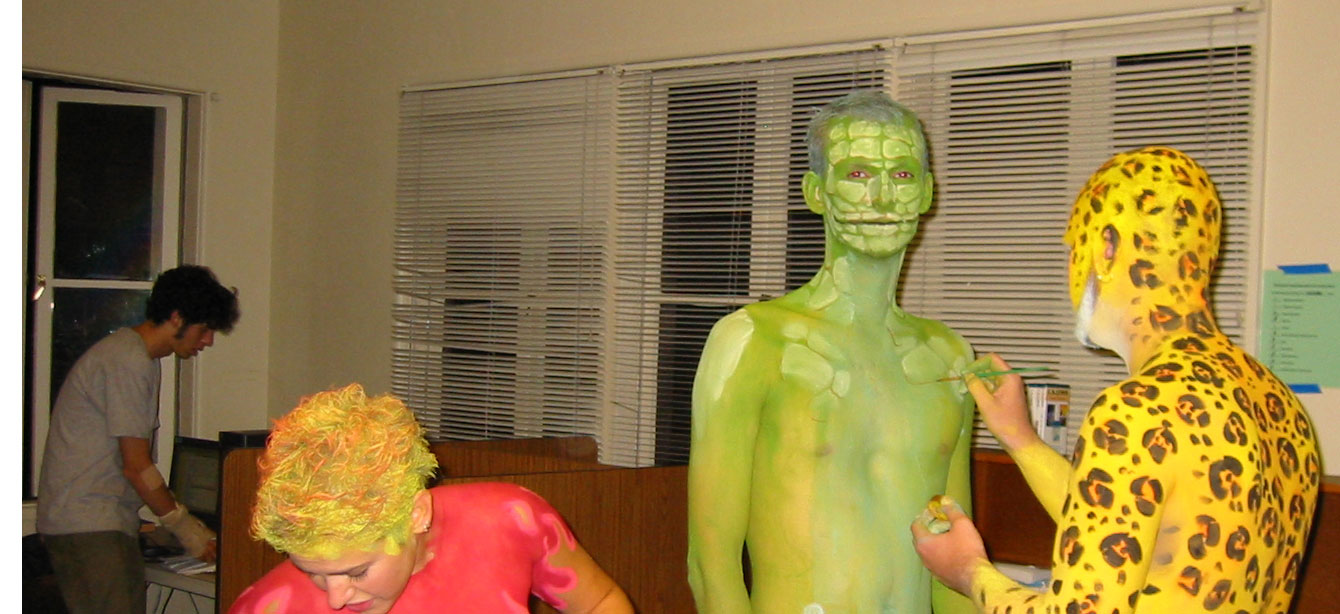 Me getting bodypainted